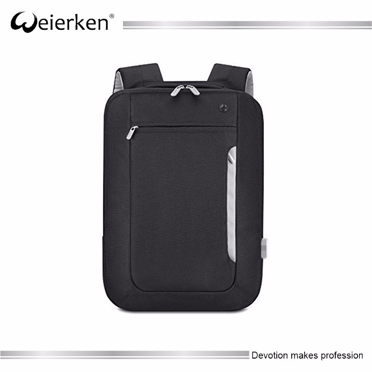 best plain black notebook polyester backpack for college school