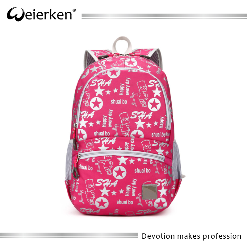 Young printed girls schoolbag toto fancy backpack