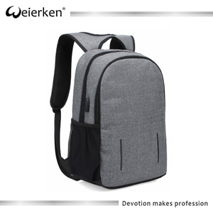 Weierken Fashionable high quality smart leisure anti theft business bag for men for 15.6inch laptops