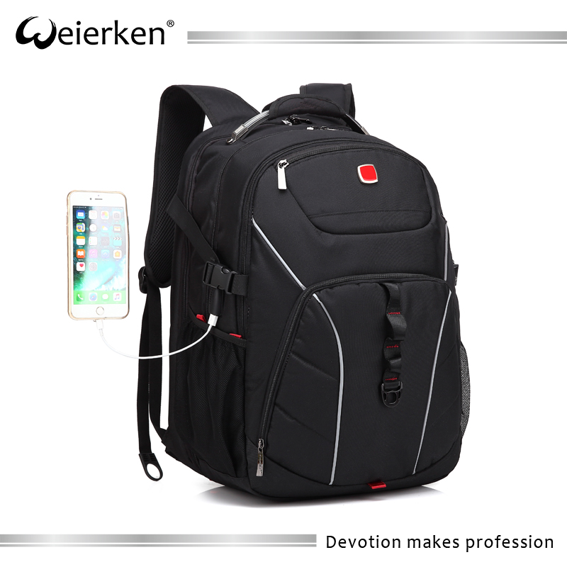Splashproof waterproof shockproof business travel rucksack with usb port