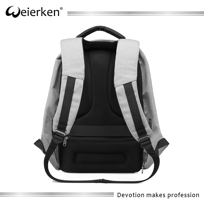 Latest hot 2017 wholesale custom backpack anti theft school bag with usb charger