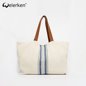 Custom Design New Stylish Beach Bag In Canvas