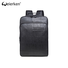 Classic Style Water-Resistant Business School Backpack Leather