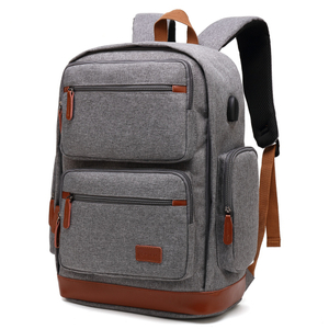 Gray retail quality Poso business laptop backpack in stock