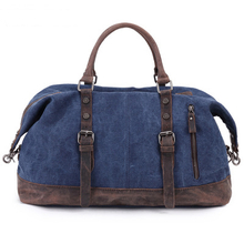 2020 new custom men canvas cotton leather travel weekend bag