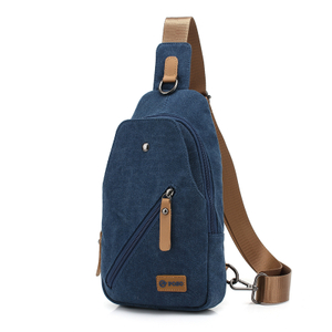 Blue Canvas Poso Tablet Sling bag for men in stock