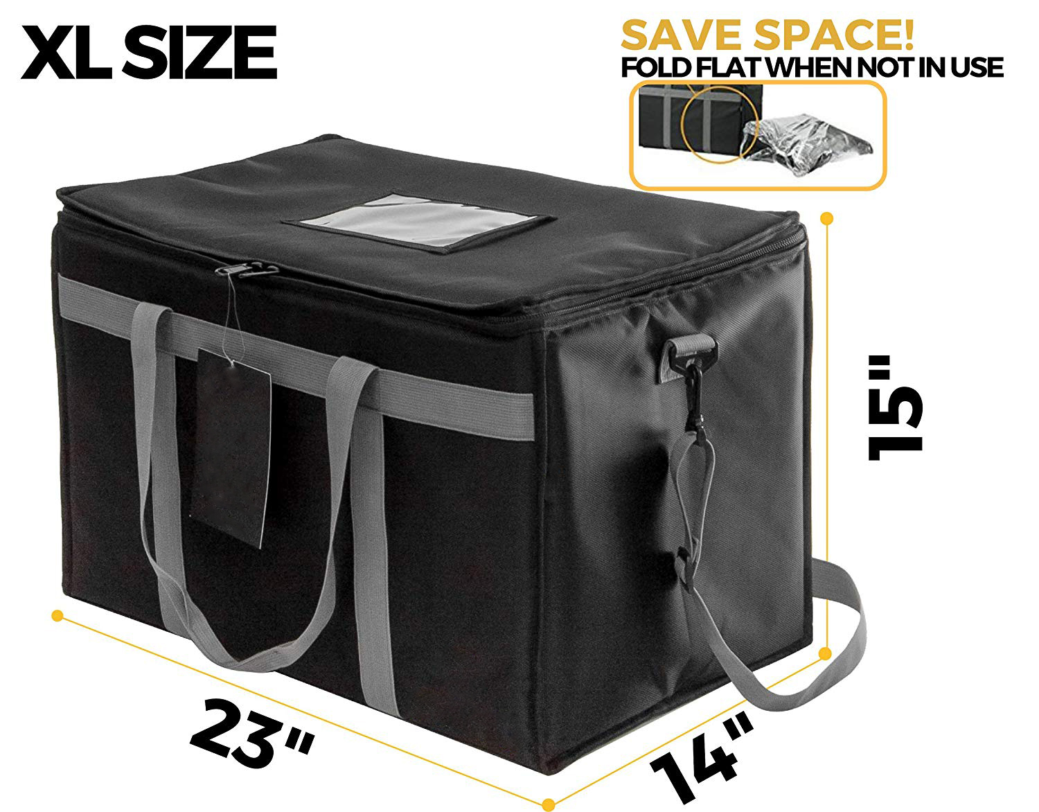 hot food delivery carry bag large